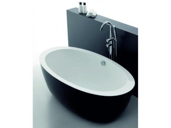 Свободностояща черно-бяла вана с крачета 170x90x60 ICS LB 1790 B