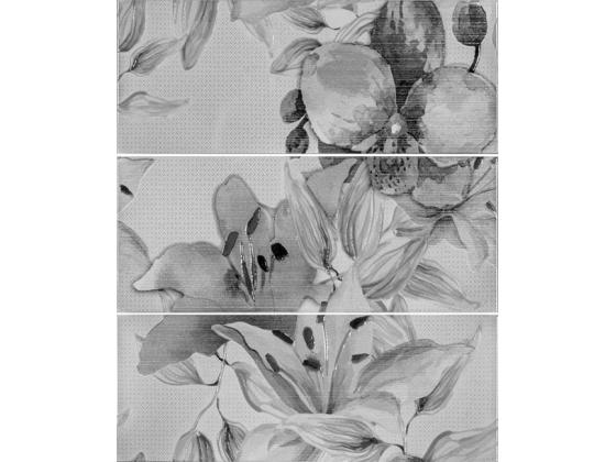 Декор Виола Цветя Антрацит