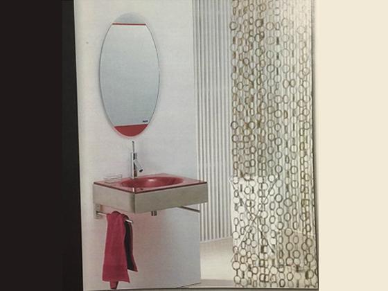 Promo set bath sink 60 B322, red and mirror SLT 427