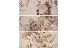 Декор Виола цветя Кафява