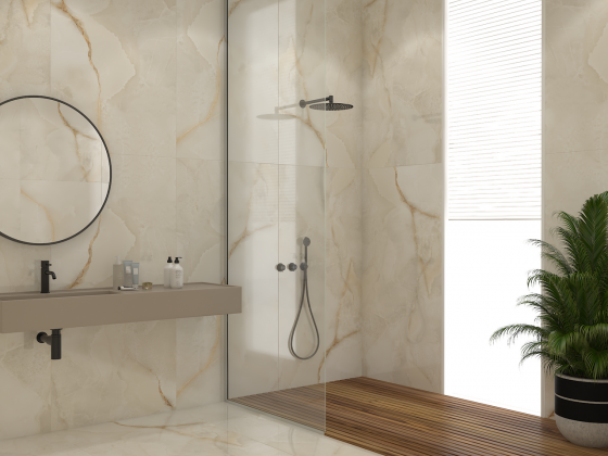 Ректифициран гранитогрес White Onyx Solid Polished 56070