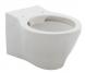 Конзолна тоалетна чиния Volcano Rimless и структура Viega Prevista, бутон двоен кръг