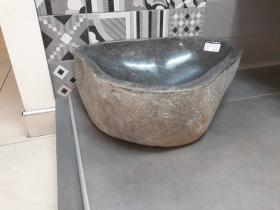 Мивка от Речен Камък 43 см Ръчна Изработка