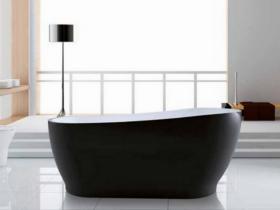 Свободно стояща вана, черна 170х75 ATENA K-1527B