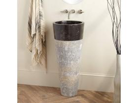 Мраморна мивка тип цилиндър D=40 см