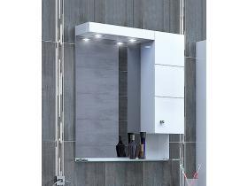 Шкаф за Баня с Огледало Емона 60 PVC - Т