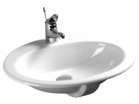 Мивка за вграждане в плот Нео бял 55х45 см.
