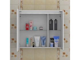 Шкаф за Баня с Огледало Флорида 75 см PVC - Т