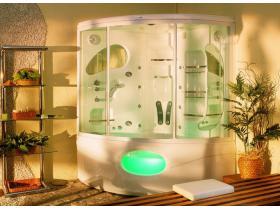 Steam/Hydromassage Shower Cabin with a Bathtub Galapagos 155x155
