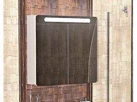 Шкаф Огледало с LED Осветление Монако 80 PVC - T