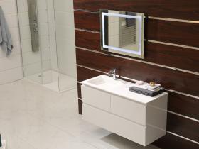 PVC шкаф за баня с умивалник iStone 120x46x60  ICP 12038