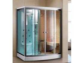Хидромасажна душ кабина/финландска сауна 165х110х215