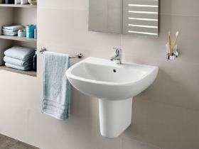 Мивка за баня Adele 55x45 см, с отвор