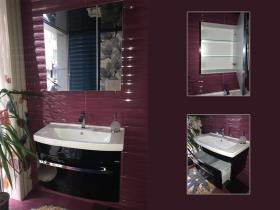 Мебели за баня Nil 80 MDF черен