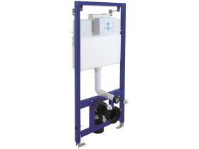 Структура за вграждане Slim 80 за окачена тоалетна с двоен бутон Mia хром гланц