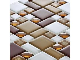 Tenlight crystal Glass Mosaic -Ruby Series (8mm)